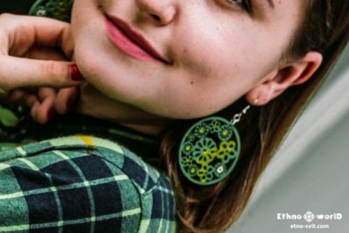 earrings ethno style