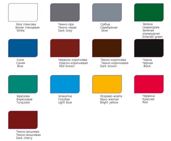 Палітра кольорів - емаль